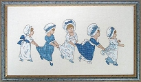 Kate Greenaway 'Follow-my-leader' cross stitch kit