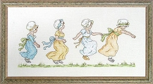 Kate Greenaway 'Playtime' cross stitch kit