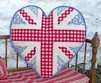 Floral Union Jack Heart Tapestry Kit